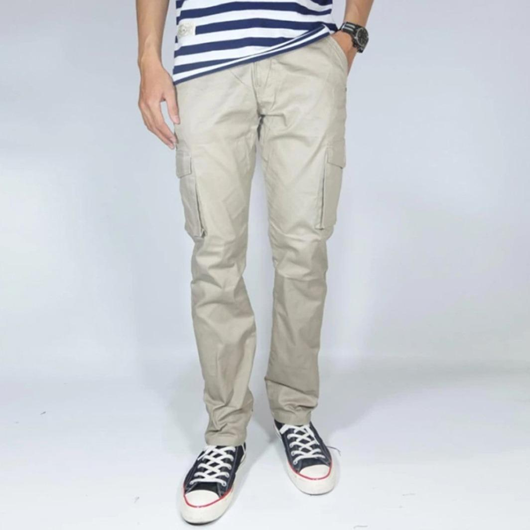 NHS Celana Cargo Panjang Slim Fit
