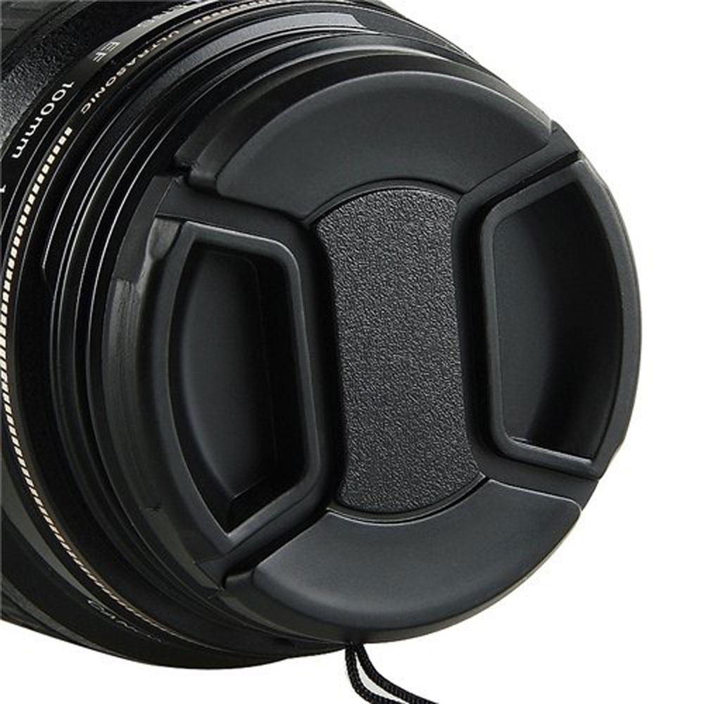 Penutup Jepret Di Cap Dengan Kabel Source · niceEshop Hitam 58 mm di .