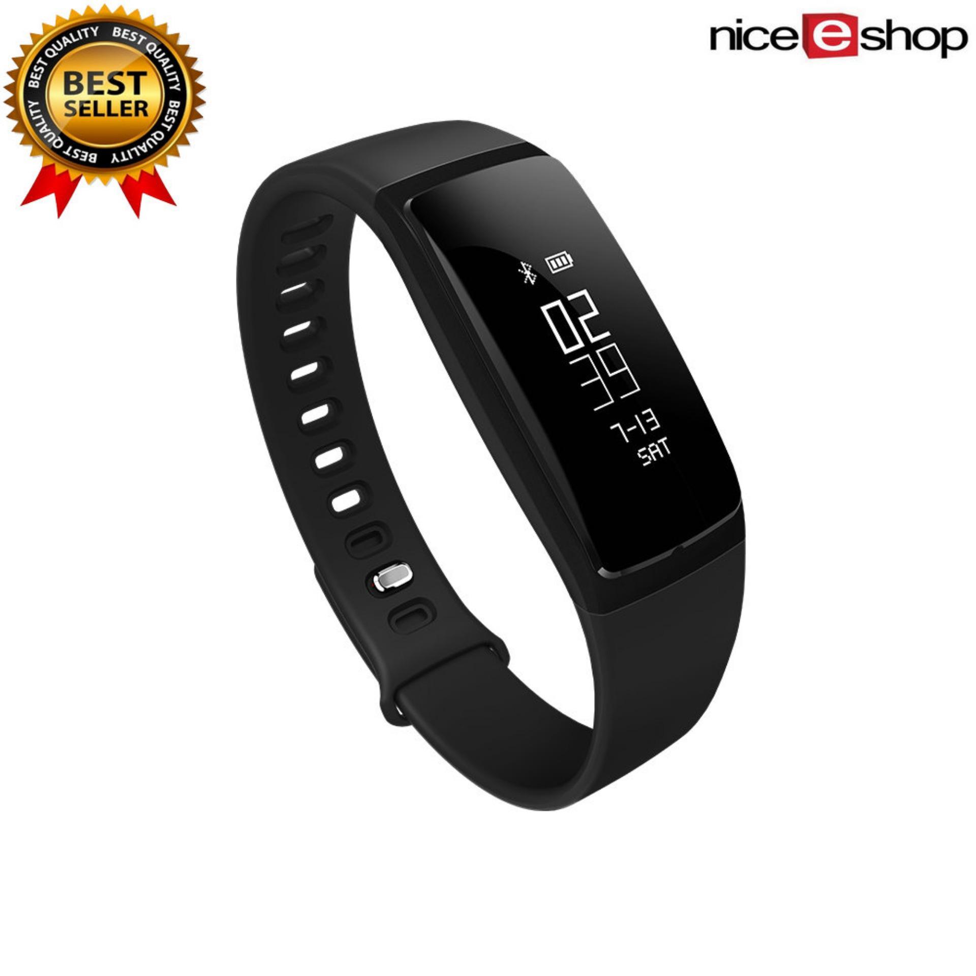 ... niceEshop Smart Band jam tekanan darah V07 gelang pintar menonton Monitor denyut jantung SmartBand Wireless pusat ...