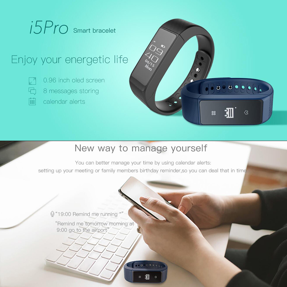 niceEshop Smart gelang Bluetooth 4.0 Tahan Air Krida pelacak Smartband (Hitam) - International .