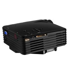NiceEshop Vivibright Portabel mini 100 Lumen Proyektor Digital Memimpin (Hitam, Steker UK)