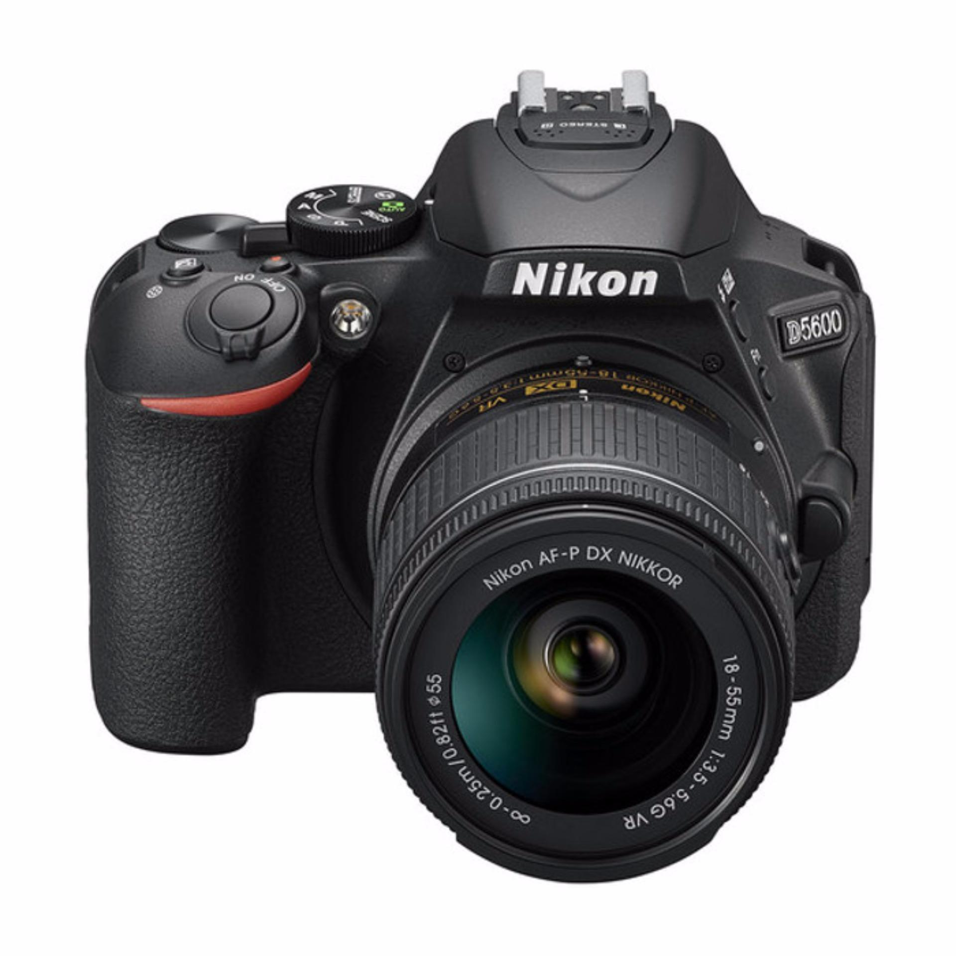 Nikon D5600 18-55mm VR - 24.2 MP - Hitam