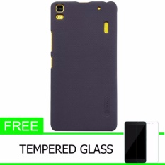 Nillkin For Lenovo K3 Note / A7000 A7000 Plus Super Frosted Shield Hard Case Original - Hitam + Gratis Tempered Glass