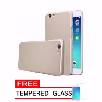 Nillkin Frosted Hard Case Lenovo A 6000 / A 6010 / Vibe K3 Gold +Gratis Tempered Glass