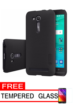 Nillkin Frosted Shield Hardcase for Asus Zenfone Go ZB452KG - Black+ Free Tempered Glass