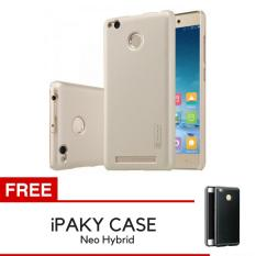 Nillkin Frosted Shield Hardcase for Xiaomi Redmi 3s 3 Pro Gold Gratis iPaky .
