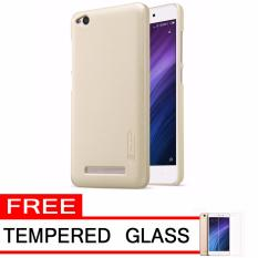 Nillkin Frosted Shield Hardcase for Xiaomi Redmi 4A - Gold + Free Tempered Glass