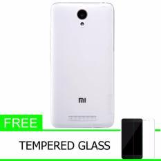 Nillkin Original Nature TPU Soft Case / Jelly Soft Case for Xiaomi Hongmi Redmi Note 2 (Note2 MIUI 6) - Putih + free Tempered Glass