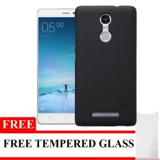 Nillkin Super Frosted Hardcase untuk Xiaomi Redmi Note 3 + Gratis Tempered Glass - Hitam
