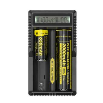 NITECORE Universal Battery Charger Dual Slot for Li-ion with High Definition LCD - UM20 - Hitam - 2