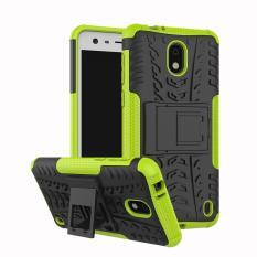 Nokia 2 Kasus, RUILEAN Dua Lapis Robot Armor Hardcase Hybrid Shockproof Stand Case Cover untuk