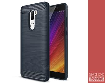 NOZIROH Xiaomi Mi5s ditambah silikon lembut penutup Mi 5s Plus(14,48 cm) anti getar anti slip Case telepon elegan Biru - ??????????