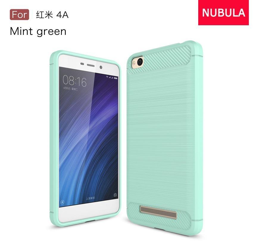 NUBULA High Quality Soft Rugged Armor Case For Xiao mi Redmi 4A Carbon Fiber Brushed TPU