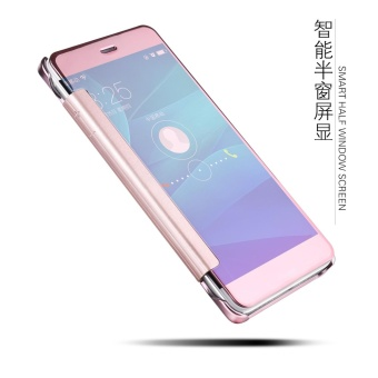 NUBULA New Fashion 360 Degree Luxury Mirror Clamshell Hard Shell Flip Wallet Case For OPPO F1S / OPPO A59 / A59S, Soft Leather Flip Wallet Smart View Mirror Clear View Full Cover Case - intl - 2