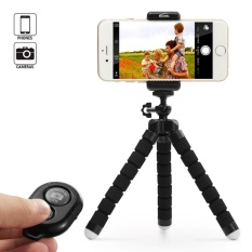 Octopus Style Portable and Adjustable Tripod Stand Holder for Cellphone and Camera with Universal Clip and Remote (Black) - intl