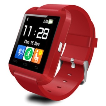 Onix Cognos U Watch U8 Smartwatch - Jam Tangan Pria - Merah / Red