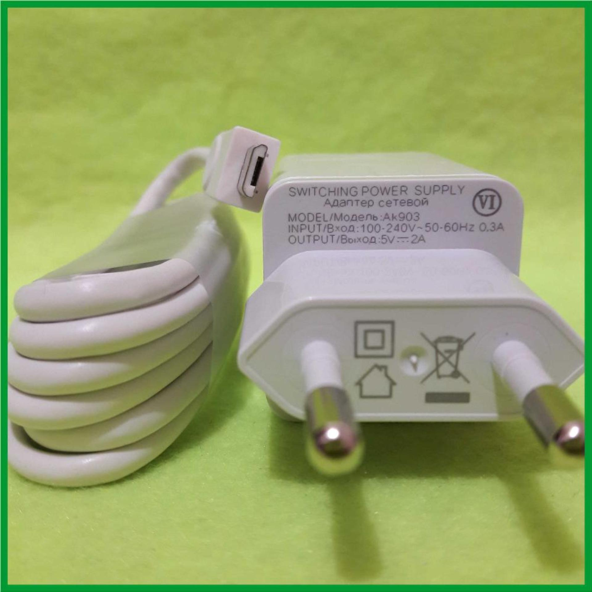 ... Oppo AK903 Travel Adapter Charger 2A Original With Cable Micro USB - Putih ...