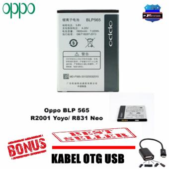 OPPO Battery BLP565 For OPPO YOYO R2001 / NEO R831 / R831K Original + Kabel OTG Micro USB