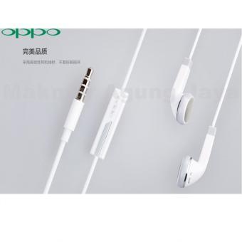 Oppo Handsfree Headset Earphone F1 For Oppo F1 Original / F1 Plus , Stereo Super Bass Original - Putih/White