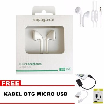 OPPO Headset / Handsfree Stereo - OPPO MH133 + Bonus Kabel OTG