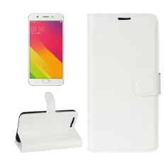 OPPO R11 Plus Litchi Texture Horizontal Flip Leather Case With Holder and Card Slots and Wallet (White) - intl