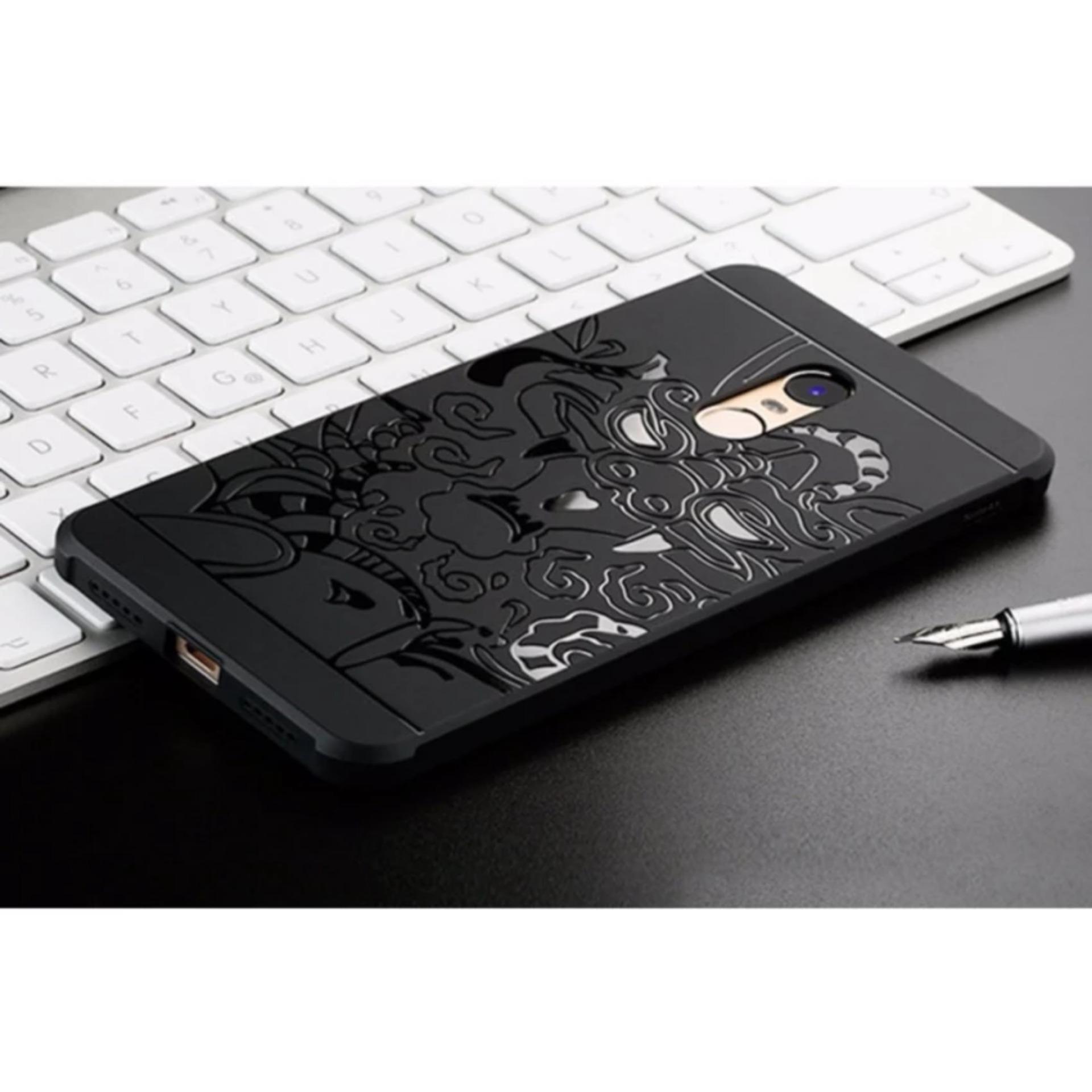 ... Original Dragon Shockproof Hybrid Case for Xiaomi Redmi Note 4X - Hitam ...