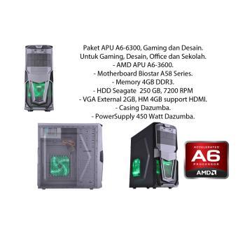 Paket APU A6-6300, Gaming dan Desain