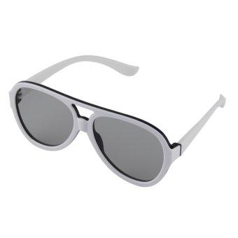 Gambar Panas Pasif 3D Kacamata Dengan Lensa Terpolarisasi Untuk TV Cinema  Film Plastik Putih Allwin cc348efbaa