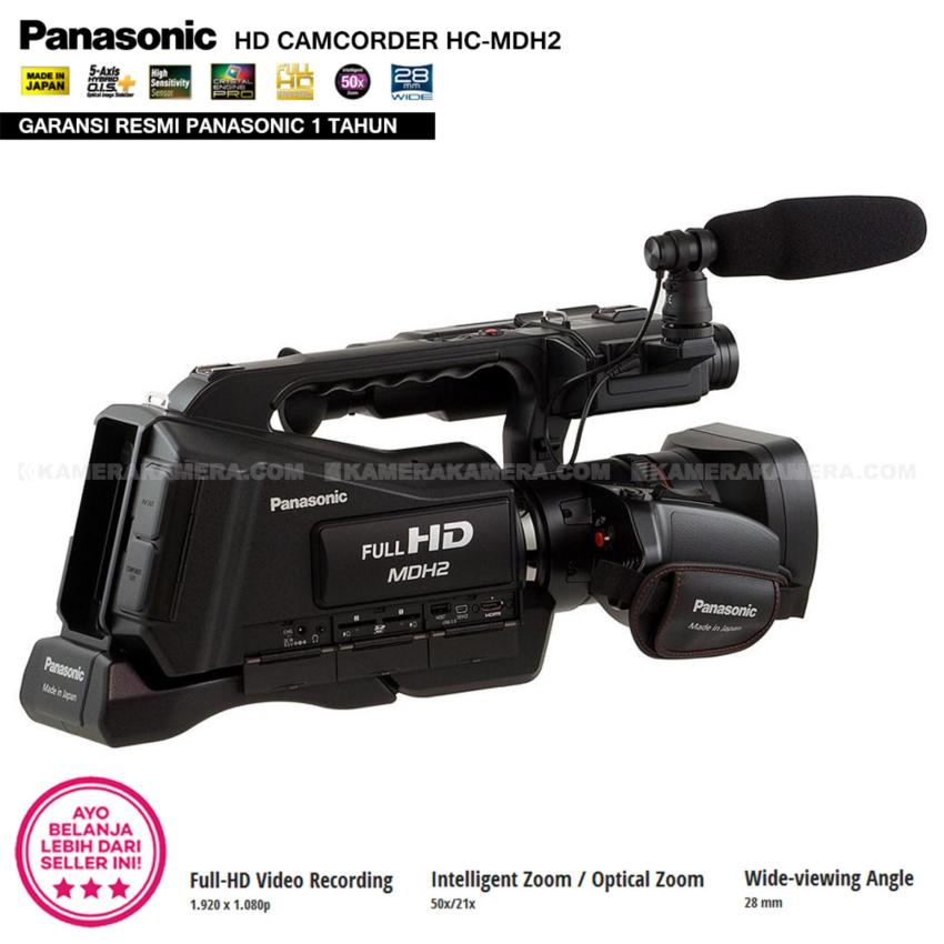 Harga Penawaran Panasonic Hc Mdh2 Full Hd Camcorder 50x 21x Vx985 4k Ultra Optical Zoom Wideangle 28mm