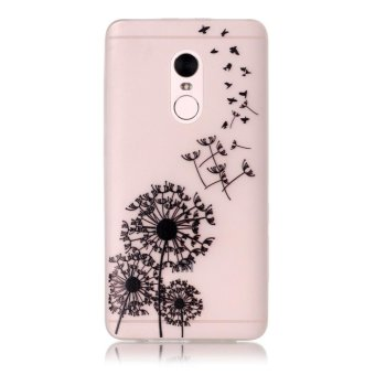 Gambar Patterned TPU Noctilucent Cover Case for Xiaomi Redmi Note 4 Flying Dandelions intl