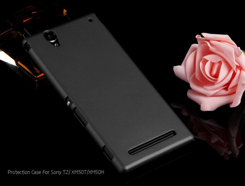 PC Ultra Tipis keras krak di sampul belakang untuk kasus Sony Xperia T2 .