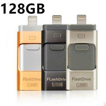 Pen Drive for Andorid/apple Iphone 6s USB Flash Drive 128gb USBStick Andorid 4.5+ OTG Pendrive U Disk 3 In 1 Memory Stick USB2.0(Gold) - intl - 4