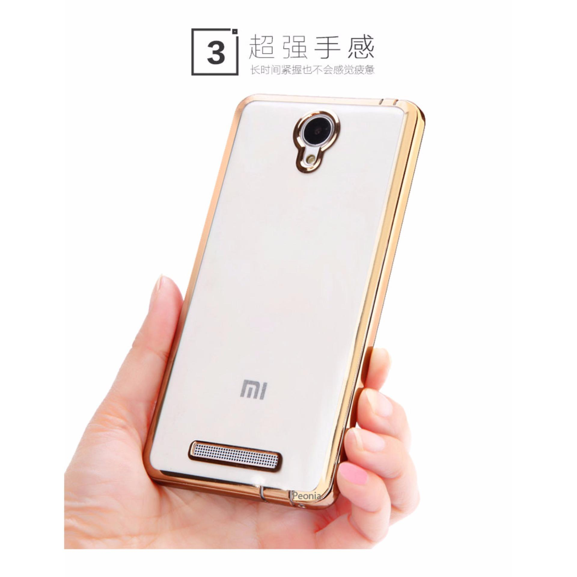 Peonia Aircase Ultrathin Luxury Plating Gilded Crystal Clear Case Transparent Acrylic Xiaomi Redmi Note 4x Snapdragon Tg Merah For 2