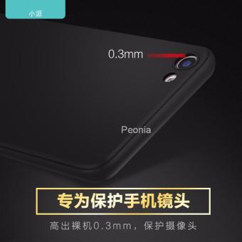 Peonia Anti Fingerprint Premium Quality Grade A Ultraslim Hybrid Case for VIVO V5 Plus - Hitam - 4