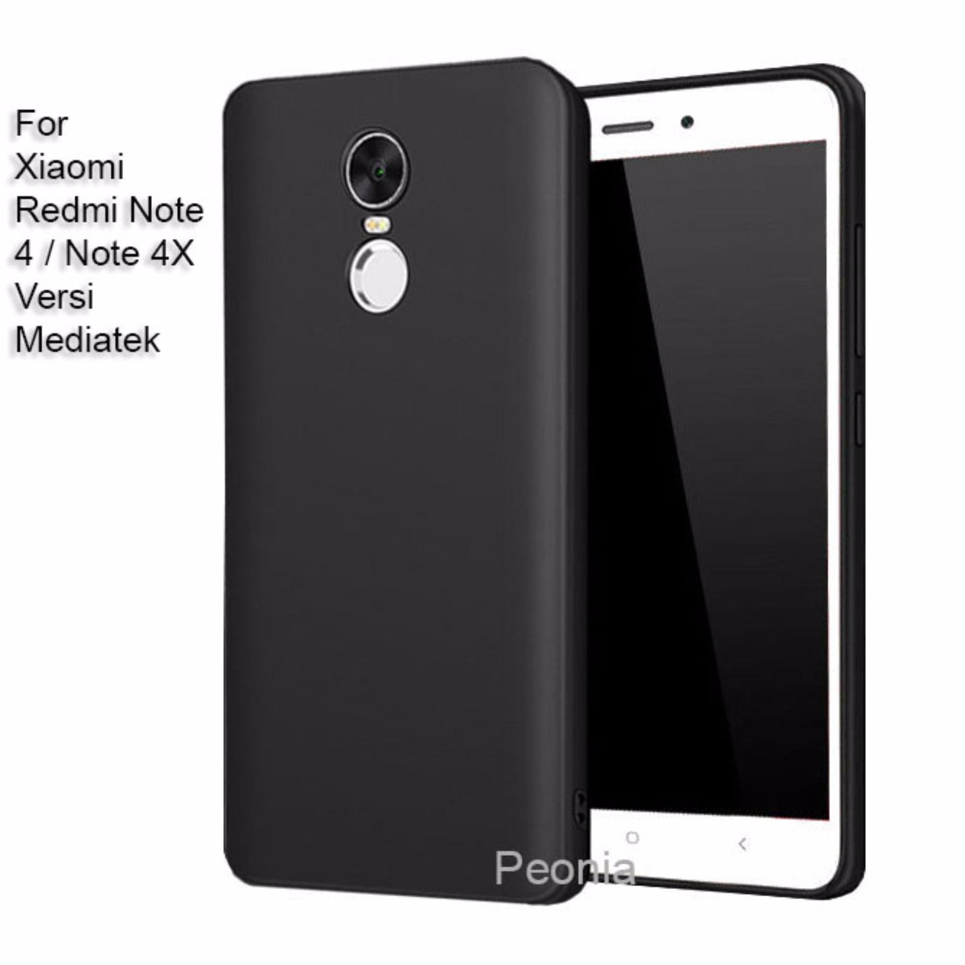 4x Source Peonia Anti Fingerprint Premium Quality Grade A Ultraslim Hybrid Case for Xiaomi Redmi Note