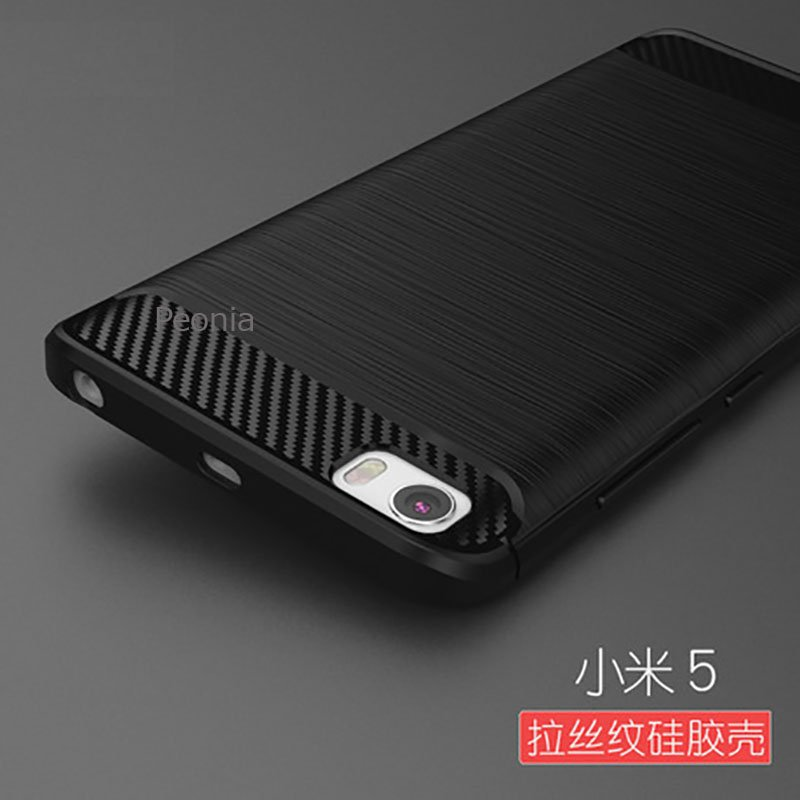 Peonia Carbon Shockproof Hybrid Premium Quality Grade A Case for Xiaomi Mi 5 .