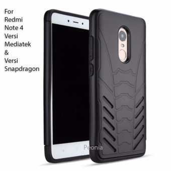 Peonia Iron Man Armor Case for Xiaomi Redmi Note 4 Mediatek / Redmi Note 4X Mediatek / Redmi Note 4 Snapdragon / Redmi Note 4x Snapdragon - Hitam ...