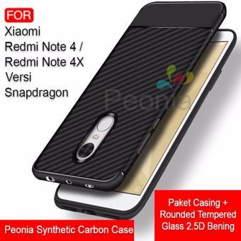 Calandiva Dragon Shockproof Hybrid Case for Xiaomi Redmi Note 2 - Hitam + Gratis Rounded Tempered