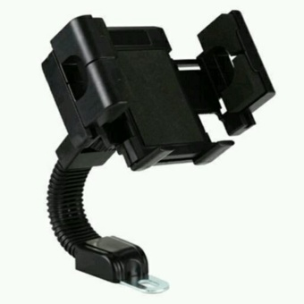 Phone Holder atau Holder HP/GPS untuk Motor Matic/Bebek - Hitam