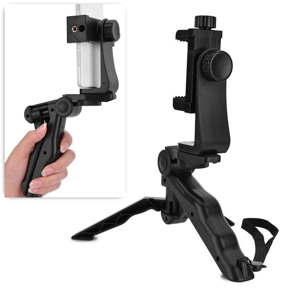 Phone Holder Tripod Handheld Stabilizer Hand Grip Mount forSmartphone - intl .