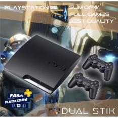 Playstation3 Slim 500gb FullGame CFW PS 3 Slim Playstation 3 Slim 2 Stik .