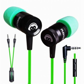 PLEXTONE G10 In-Ear Headphones Gaming Headset Noise Cancelling Sports Stereo Bass Earphone with Mic - Green - intl
