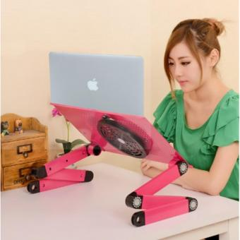 Portable Meja Laptop Portable Aluminium Cooler Big Fan Mousepad