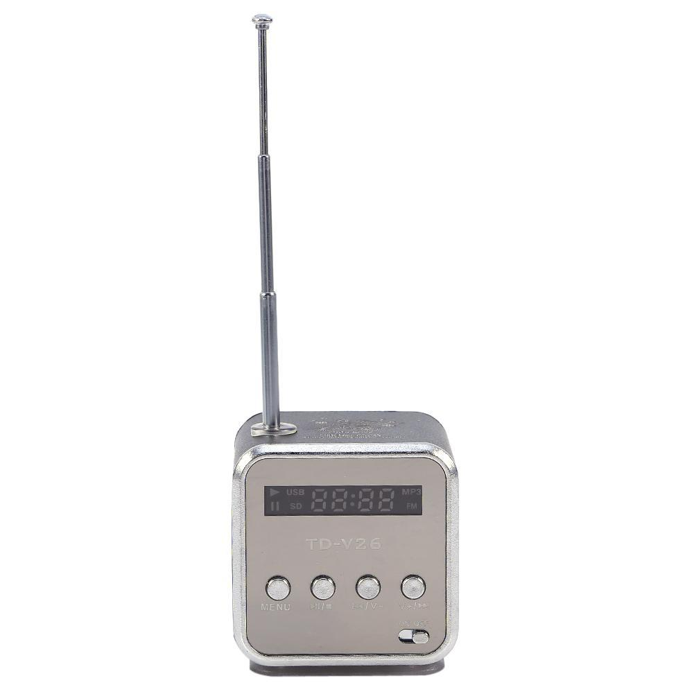 Portable Mini Speaker FM Radio Support TF card and U disk Black - intl .