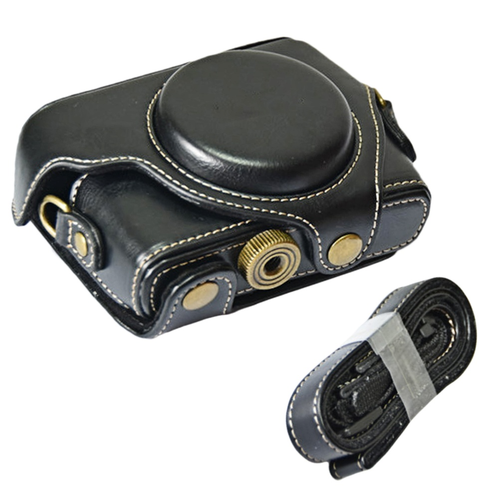 Portable PU Leather Camera Protector Case Protective Bag Cover withAdjustable Shoulder Strap for Sony DSC RX100M1