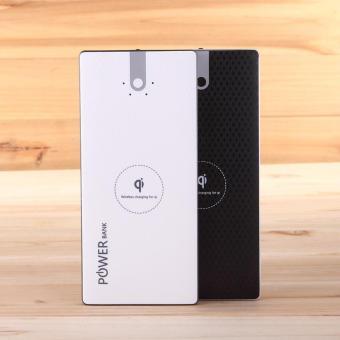 Power Bank Slim Wireless Sony Q8 10000mah Dual Output - White