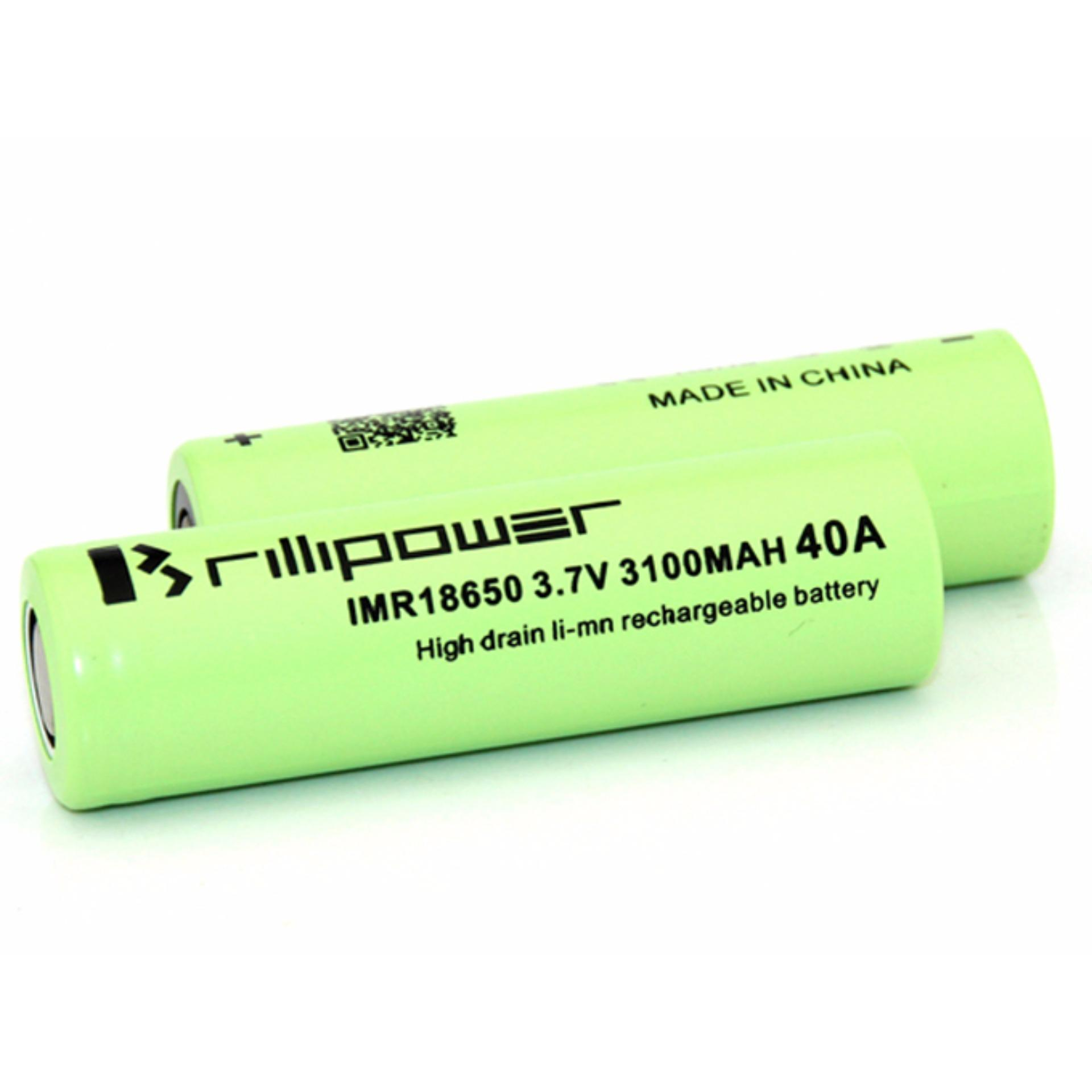 ... 3000 Mah 37v 40a Baterai Rokok Elektrik High Drain Rechargeable Gratis Battery Awt 18650; Page - 2. Premium Battery Brillipower 40A 3100mAh 18650 ...