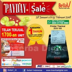 Printer Bluetooth Thermal BellaV ZCS 103 Support Paytren Fastpay iReap