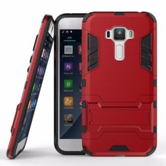 ProCase Shield Rugged Kickstand Armor Iron Man PC+TPU Back Covers for Asus Zenfone 3 ZE552KL - Red