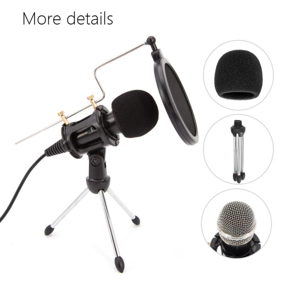 Pencari Harga Profesional Kondensor Mikrofon Plug Play Studio Pop Filter Layer Ganda Bop Rumah Untuk Iphone Android Rekaman Podcasting Online